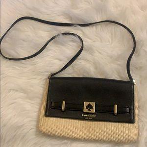 Kate Spade Leather & Woven Crossbody